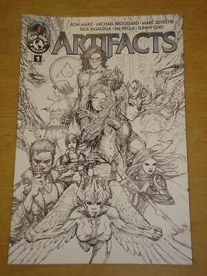Artifacts #1 Cover D Jam Lineart 2010 Top Cow Universe Ron Marz
