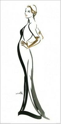 Haute-Couture - Top Model Silhouette Poster Bild (100x50cm) #68173