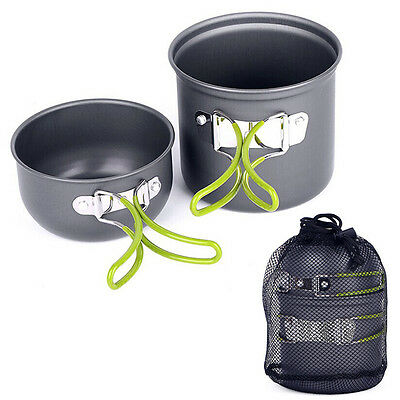 NEW Outdoor Camping Hiking Backpacking Picnic Cookware Cook Cooking Pot Bowl Set