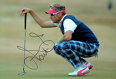 Ian POULTER SIGNED at British Open WOBURN 2015 Autograph 12x8 Photo AFTAL COA