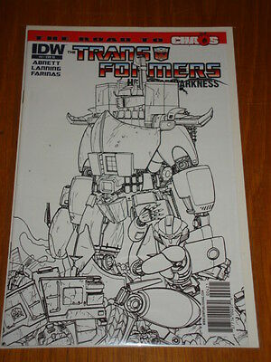 Transformers Heart Of Darkness #4 Variant Ri Sketch Cover Idw