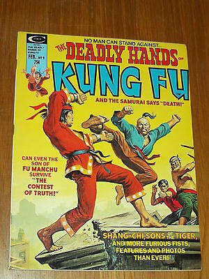 Deadly Hands Of Kung Fu #9 Vf (8.0) February 1975 Curtis Us Magazine~