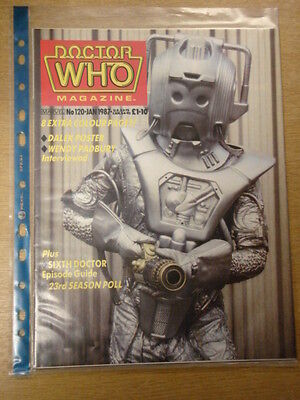 Doctor Who #120 1987 Jan British Weekly Monthly Magazine Dr Who Dalek Cybermen