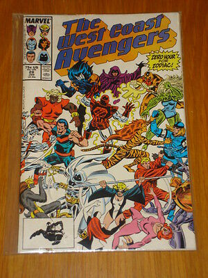 West Coast Avengers #28 Vol 1 Marvel Comic January 1988