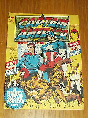 Captain America Summer Special 1979 British Weekly Iron Man Scarce^