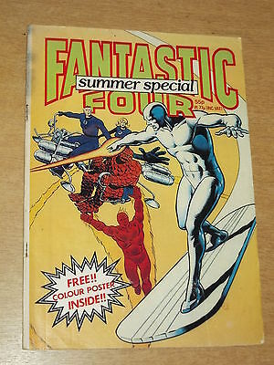 Fantastic Four Marvel British Weekly Summer Special 1982 Silver Surfer Rare (B)^