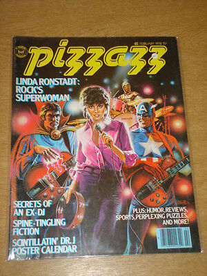 Pizzazz #5 1978 Feb Fn Marvel Us Magazine Captain America C3Po Linda Ronstadt