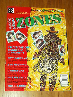 Zones #2 Dc British Monthly 1990 Shadow Swamp Thing Cyberpunk Howard Chaykin^