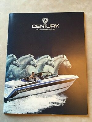 Century Boat~Boats~1987 Original Sales Brochure~Mint Condition~Coronado~Resorter