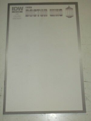 Doctor Who #15 Blank Cover Very Scarce Idw Comics November 2013 Nm (9.4)