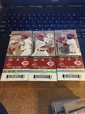 2015 St. Louis Cardinals Season Ticket Stub Pick Your Game Cabrera Buxton Wacha