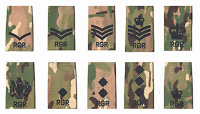 7da0a47b Pair Black on Multicam / MTP Match RGR Royal Gurkha Rifles Rank Slides