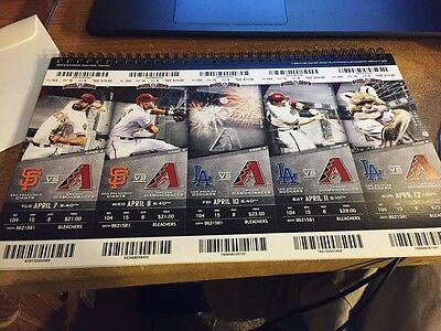 2015 Arizona Diamondbacks Season Ticket Stub Pick Your Game Goldschmidt