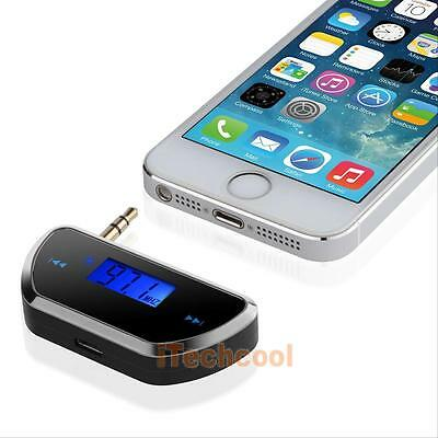 FM Transmitter Radio 3.5mm Jack USB Car Charger Adapter for Samsung iPhone iPod