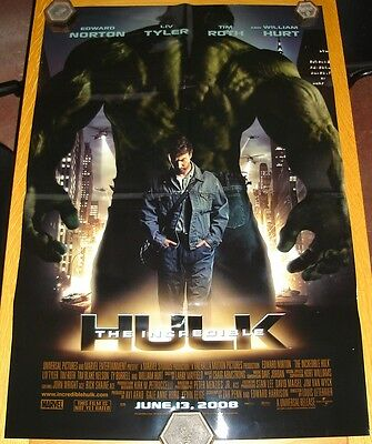 Incredible Hulk Movie Poster Large 40 X 27 Inch