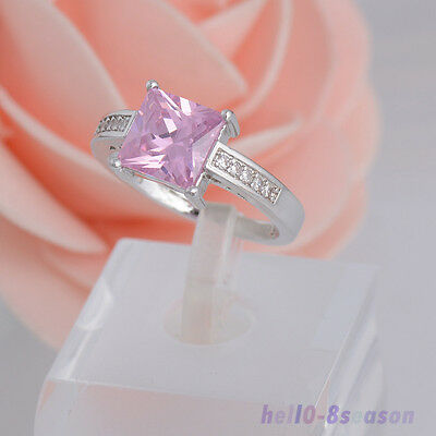 New Arrivals Lady Fashion White Gold Plated Cubic Zirconia Rings Fashion Jewelry