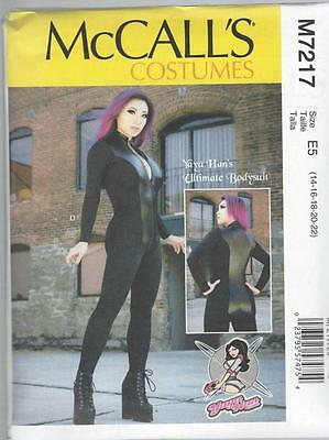 McCALL'S SEWING PATTERN COSTUMES MISSES YAYA HAN BODSYSUIT SIZES 6 - 22 M7217