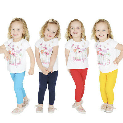 Girls Kids Childrens Cotton Leggings Full Length Age 2 3 4 5 6 7 8 9 10 11 12 13