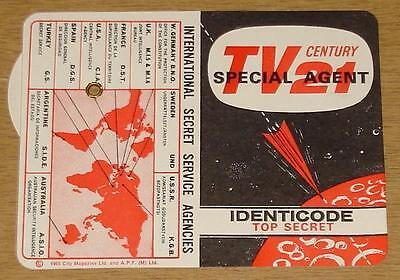 Tv Century 21 #1 High Grade Unused Unfolded Free Gift Identicode Rare