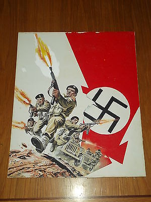 War Battle Picture Library Classic Hand Painted Comic Art Drawn By Frey