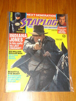 Starlog #143 Sci-Fi Magazine June 1989 Indiana Jones Last Crusade Batman