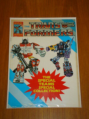 Transformers British Weekly #63 Marvel Uk Comic 1986 With Free Gift