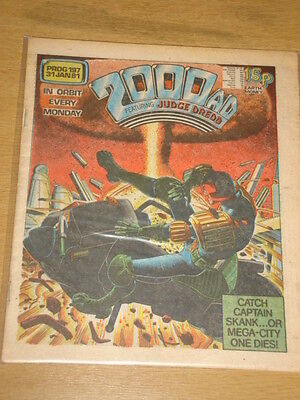 2000Ad #197 British Weekly Comic Judge Dredd Jan 1981 *