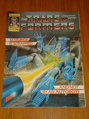 Transformers British Weekly #83 Marvel Uk Comic 1986