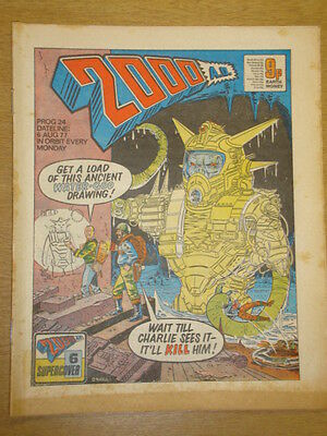 2000Ad #24 British Weekly Comic Judge Dredd Aug 1977 *