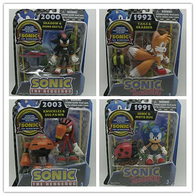 JAZWARES SEGA SONIC THE HEDGEHOG NEW sonic shadow tails knuckles figure