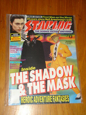 Starlog #205 Sci-Fi Magazine August 1994 Shadow & The Mask Neil Armstrong