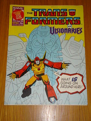 Transformers British Weekly #184 Marvel Uk Comic 1988