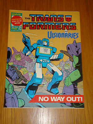 Transformers British Weekly #185 Marvel Uk Comic 1988