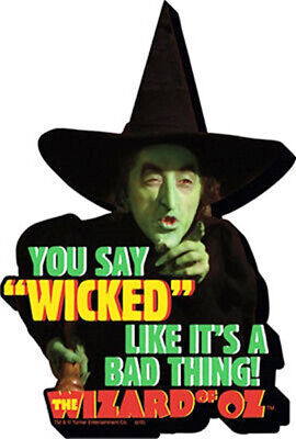 The Wizard of Oz Wicked Witch You Say Wicked... Chunky 3-D Die-Cut Magnet NEW