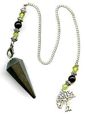 Tree of Life Hematite Pendulum Multi-sided #3  Comes with free pouch!!