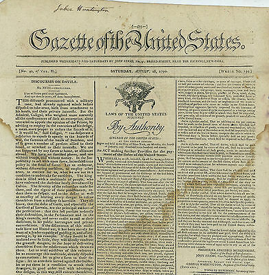 Gazette of the United States, 1790 - Debt & the Assumption Act