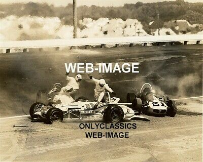 65 Usac Jim Hurtubise Kenyon Auto Racing Crash Langhorne Speedway Photo Indy 500