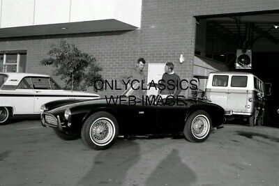 Carroll Shelby & Steve Mcqueen Check Out Ac Cobra Car Photo 12X18 Poster Racing