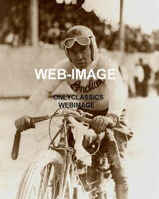 1920 Indian Motorcycle Racer Johnnie Seymour Motordrome Boardtrack Racing Photo