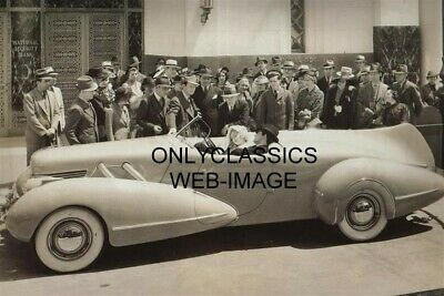 1936 Cary Grant & Constance Bennett Art Deco Streamlined Buick Photo Automobilia