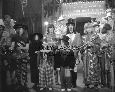 1968 The Rolling Stones Rock And Roll Circus Photo Jagger Lennon Richards Ono