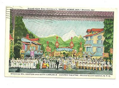 1939 Used Post Card White Horse In Play Rockefeller Center NYC Center Theatre
