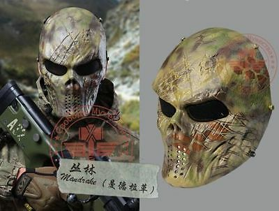 Paintball Airsoft CS War Game Full Face Tactical Protective Skull Mask Outdoor