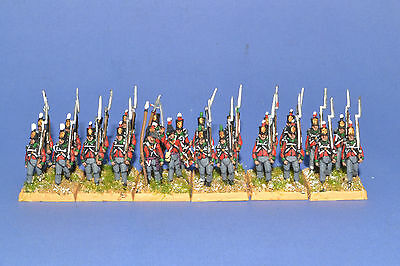 15mm Napoleonic painted British Line Infantry (Green Facings) BR01
