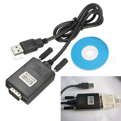 UK USB 2.0 Male to RS232 Serial 9 Pin Converter PC Adapter Cable Windows XP/7/8