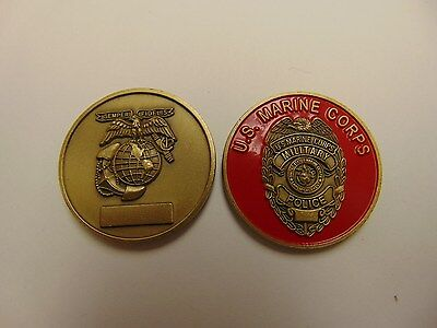 Challenge Coin Older Rare Original Us Marine Corps Military Police Semper Fi