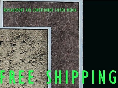 Air Conditioner Return Air Filter Media Material Aircon 550x750mm Replacement