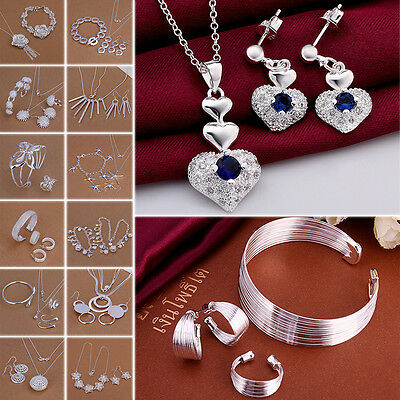 Elegant New Style 925 Sterling Silver Charming Wedding Gift Fashion Jewelry Set