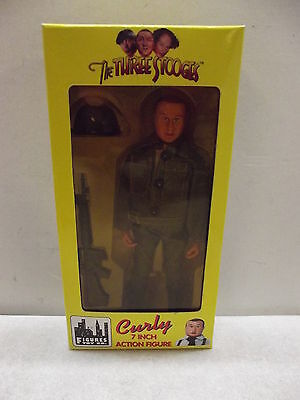 """Vintage The Three Stooges 7"""" Curly Action Figure Doll"""