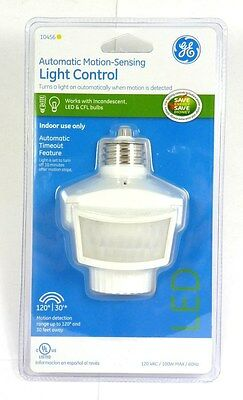 10456  GE Indoor 120 degree Motion-Sensing Light Control, Work with LED CFL Bulb